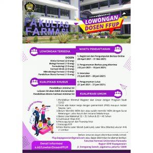 Lowongan Dosen: Farmasi Universitas Pancasila
